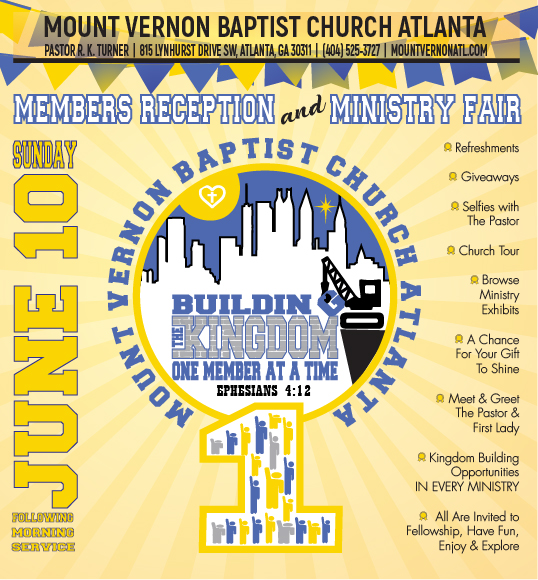 Member Reception and Ministry Fair 2018 - Mount Vernon Baptist Church Atlanta